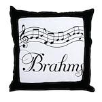 Brahms Music Gift Throw Pillow