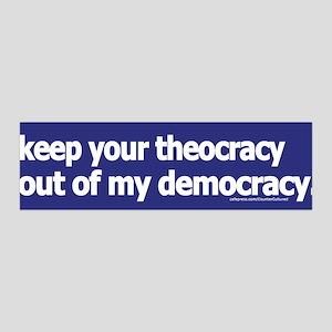 Keep your theocracy ... 36x11 Wall Peel