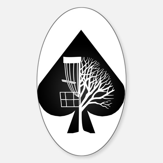 Wayne Disc Golf Sticker (Oval)