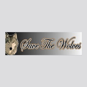Save The Wolves 36x11 Wall Peel