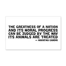 Quote - Greatness - Gandhi 20x12 Wall Peel