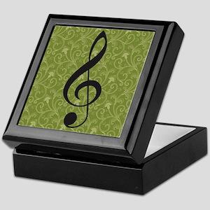 Musician Gift Treble Clef Keepsake Box