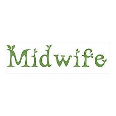 Midwife White Green 36x11 Wall Peel