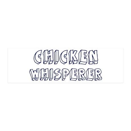 Chicken Whisperer 36x11 Wall Peel