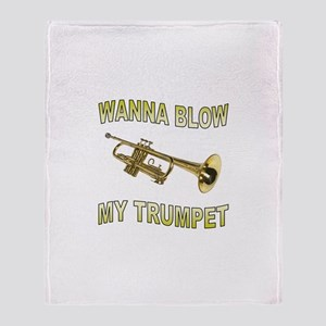 GET READY TO BLOW Throw Blanket