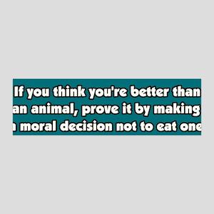 Vegetarianism, a Moral Decision 36x11 Wall Peel