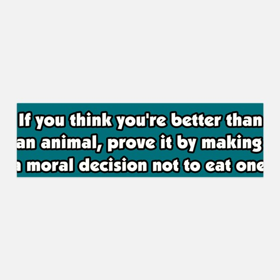 Vegetarianism, a Moral Decision 36x11 Wall Peel