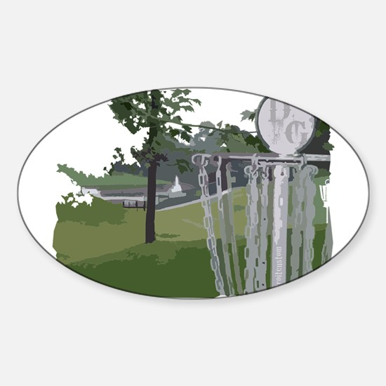 Lapeer Disc Golf Sticker (Oval)