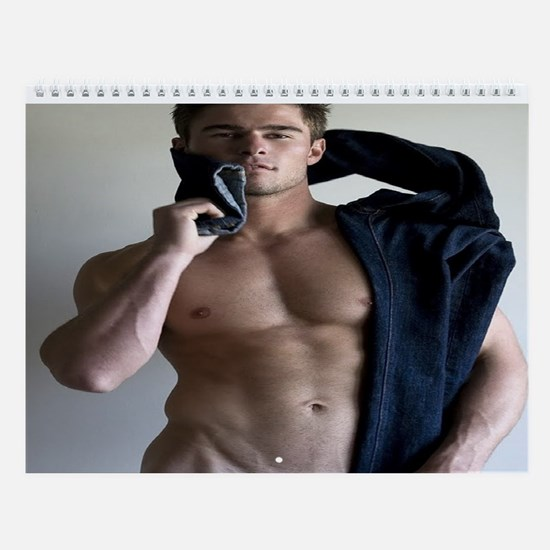 sexy hot men Wall Calendar