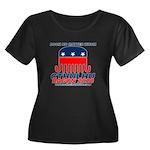 Doom Women's Plus Size Scoop Neck Dark T-Shirt