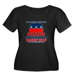 Stranger Women's Plus Size Scoop Neck Dark T-Shirt