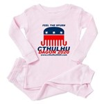 Feel the Spurn Toddler Pink Pajamas