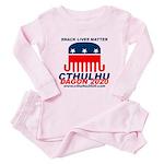 Snack Lives Matter Toddler Pink Pajamas