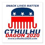 Snack Lives Matter Square Car Magnet 3