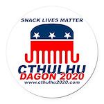 Snack Lives Matter Round Car Magnet