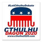 #LetCthulhuDebate Square Car Magnet 3