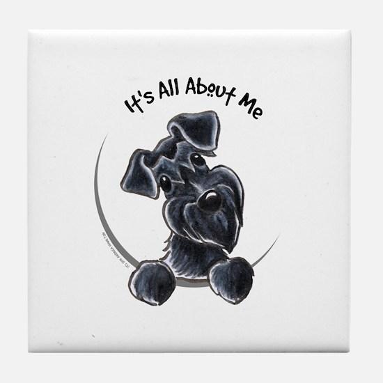 Black Schnazuer IAAM Tile Coaster