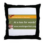 Working Writers of Wisconsin Throw Pillow