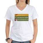 Working Writers of Wisconsin Women's V-Neck T-Shir