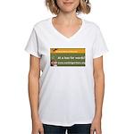 Working Writers of Wisconsin Women's V-Neck T-Shir