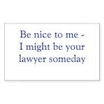 Lawyer someday Sticker (Rectangle 50 pk)