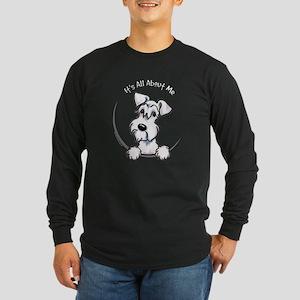 White Schnazuer IAAM Long Sleeve Dark T-Shirt