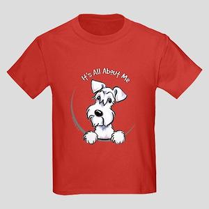 White Schnazuer IAAM Kids Dark T-Shirt