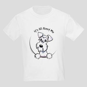 White Schnazuer IAAM Kids Light T-Shirt