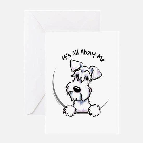 White Schnazuer IAAM Greeting Card