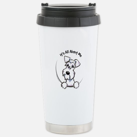 White Schnazuer IAAM Stainless Steel Travel Mug
