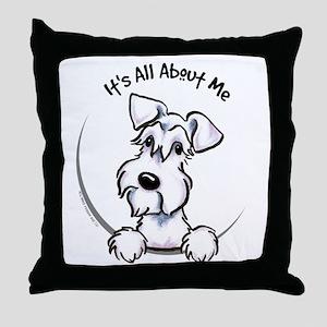 White Schnazuer IAAM Throw Pillow