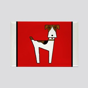 graphic terrier (red) Rectangle Magnet