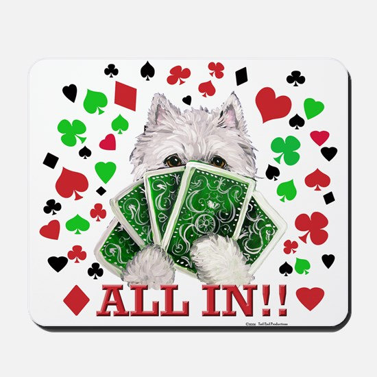 Westie Playing Poker Mousepad