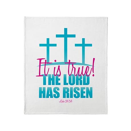 Lord Has Risen Throw Blanket