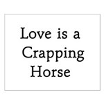 Crapping Horse Small Poster