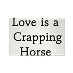 Crapping Horse Rectangle Magnet