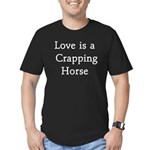Crapping Horse Men's Fitted T-Shirt (dark)