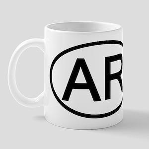 Arkansas - AR - US Oval Mug
