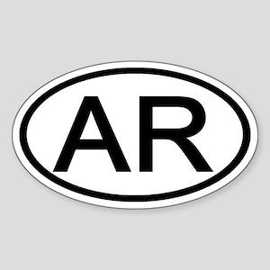 Arkansas - AR - US Oval Oval Sticker