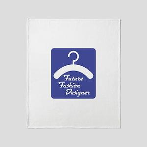 Future Fashion Designer Throw Blanket