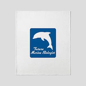 Future Marine Biologist Throw Blanket