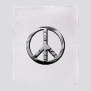 Chrome Peace - Throw Blanket