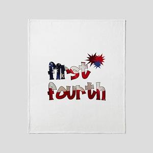 First Fourth - Throw Blanket