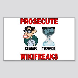 PROSECUTE THE GEEKS TOO Sticker (Rectangle)
