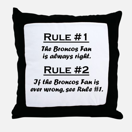 Broncos Throw Pillow