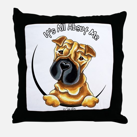 Chinese Shar Pei IAAM Throw Pillow