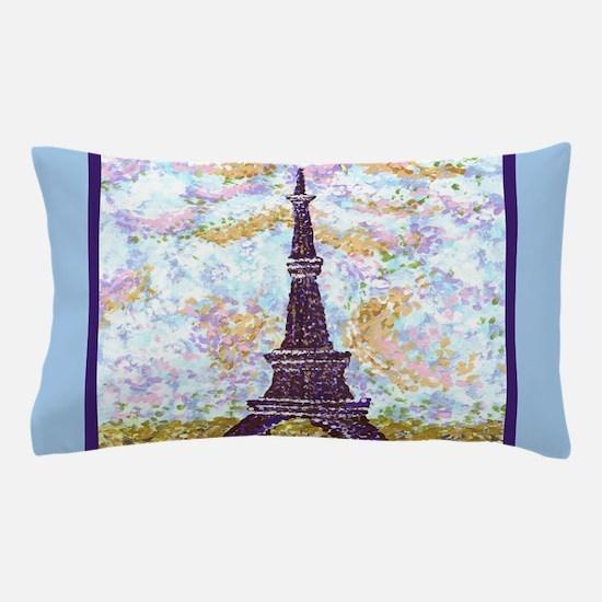 Eiffel Tower Pointillism landscape painting light