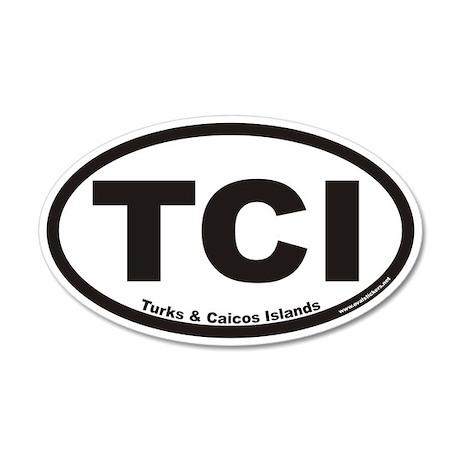 Turks & Caicos Islands TCI Euro 20x12 Oval Wall Pe