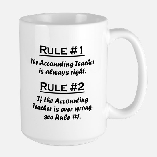 Accounting Teacher Large Mug