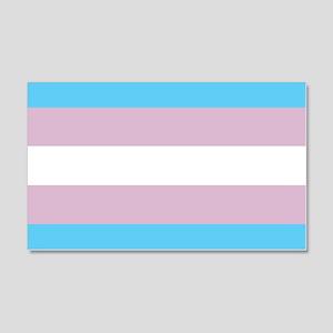 Transgender Pride Flag 20x12 Wall Peel